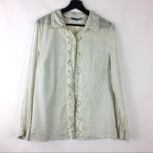 Anthropologie Lil Button Down Western Blouse